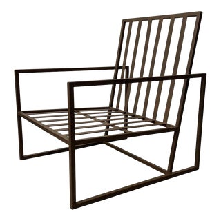 New Outdoor Armchair in Wrought Iron For Sale