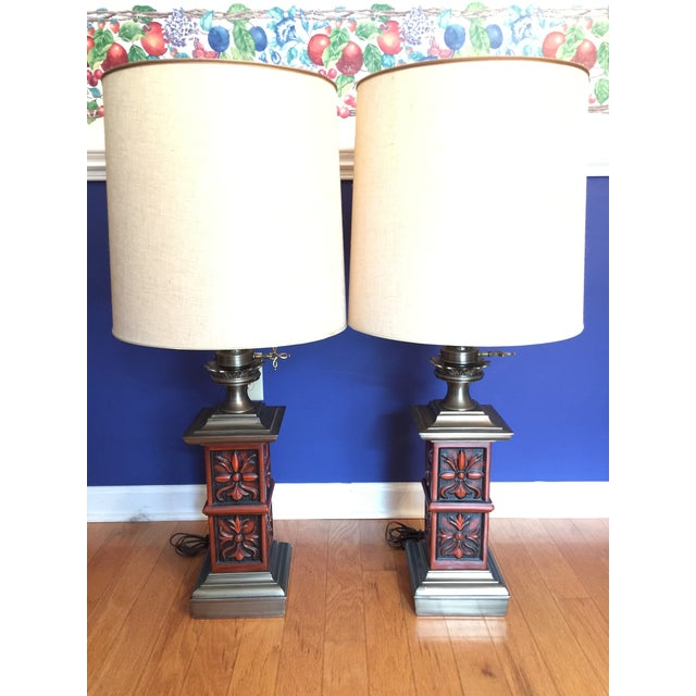 Selling a stunning RARE pair of authentic Stiffel table lamps. They are true Mid 20th Century Flair. In the Hollywood...