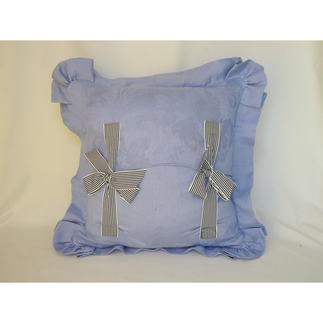 French Country Antique 1880s Don Quixote Scene Toile Pillow For Sale - Image 3 of 4