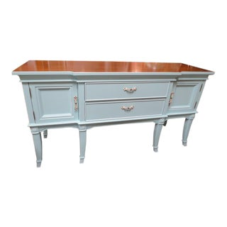 1960 Antique Style Bernhardt Painted Credenza/Buffet For Sale
