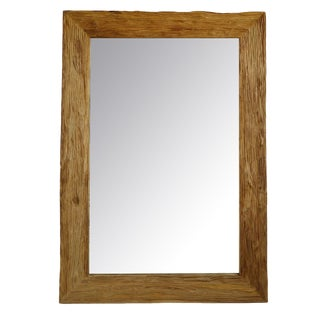 Large Teak Mirror For Sale