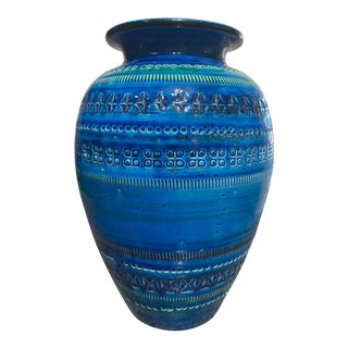 Bitossi Rimini Royal Blue Vase For Sale