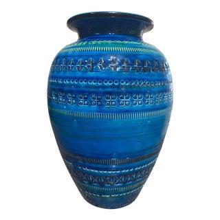 Bitossi Rimini Royal Blue Vase For Sale