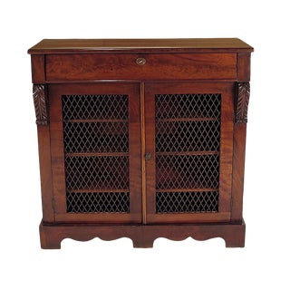 English Regency Period Mahogany Cabinet Circa 1820 For Sale