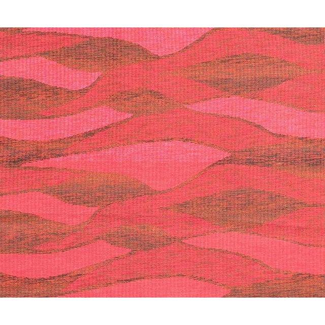 Mid-Century Modern Vintage Double-Sided Swedish Kilim Carpet For Sale - Image 3 of 10