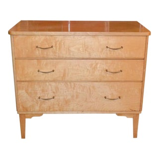 French Mid-Century Burled Maple Chest