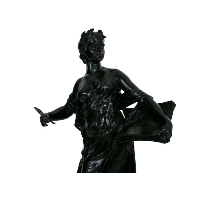 """Figurative Antique French Bronze Sculpture """"Science"""" by Edouard Drouot"""" For Sale - Image 3 of 13"""