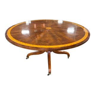 "Traditional John Widdicomb 60"" Round Sunburst Table For Sale"