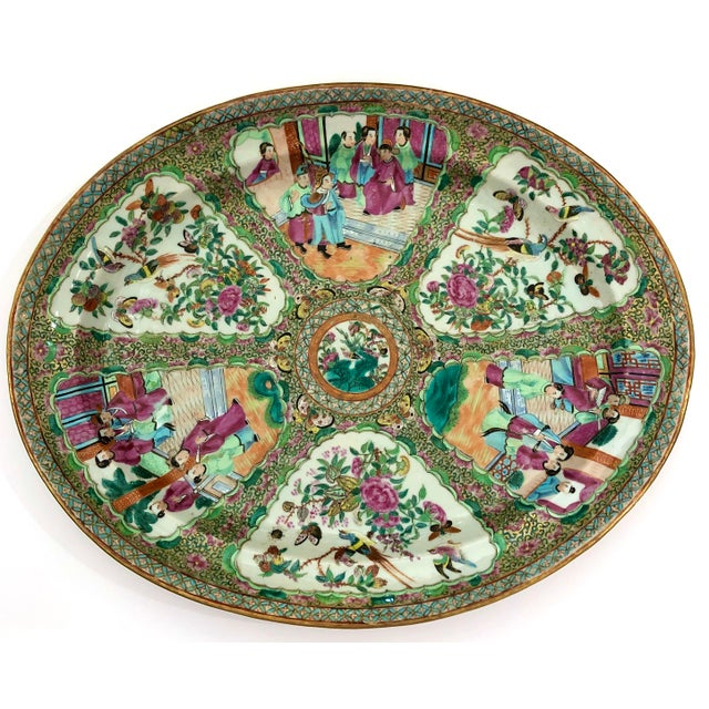 Exceptional & Large Chinese Export Canto, Rose Medallion Platter, 18th C. For Sale - Image 11 of 11