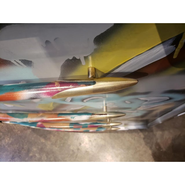 Graffitied Artist Painted Chest of Drawers For Sale In Dallas - Image 6 of 10