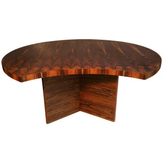Bookmatched Brazilian Rosewood Desk by Leif Jacobsen Denmark For Sale
