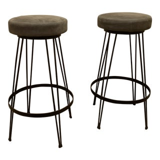 1960s Vintage American Bar Stools- A Pair For Sale