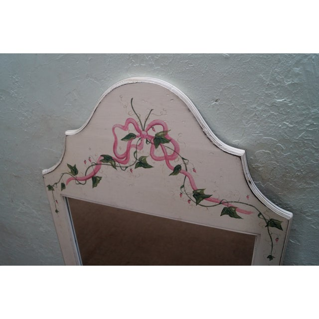 Hand Painted Venetian Andrea Davinci Braun Mirror For Sale - Image 5 of 10