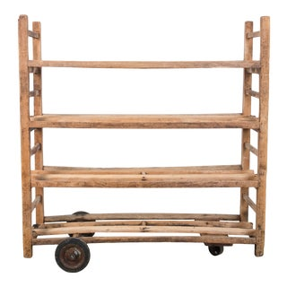 1930s Wooden Bread Trolley For Sale