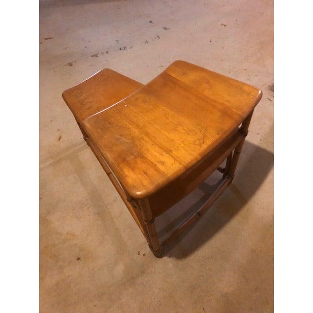 Heywood-Wakefield 1950s Vintage Mid-Century Modern Heywood-Wakefield Side Table For Sale - Image 4 of 9