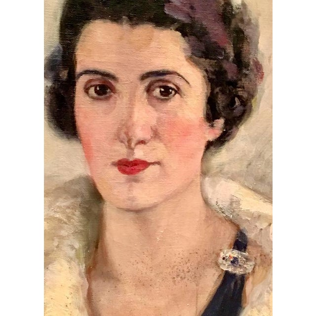 Early 20th Century Original Oil Painting Female Portrait -Framed & Signed By, H. Pink For Sale - Image 4 of 10