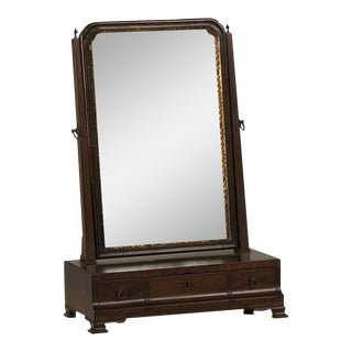 18th Century George III Period Mahogany Dressing Mirror For Sale