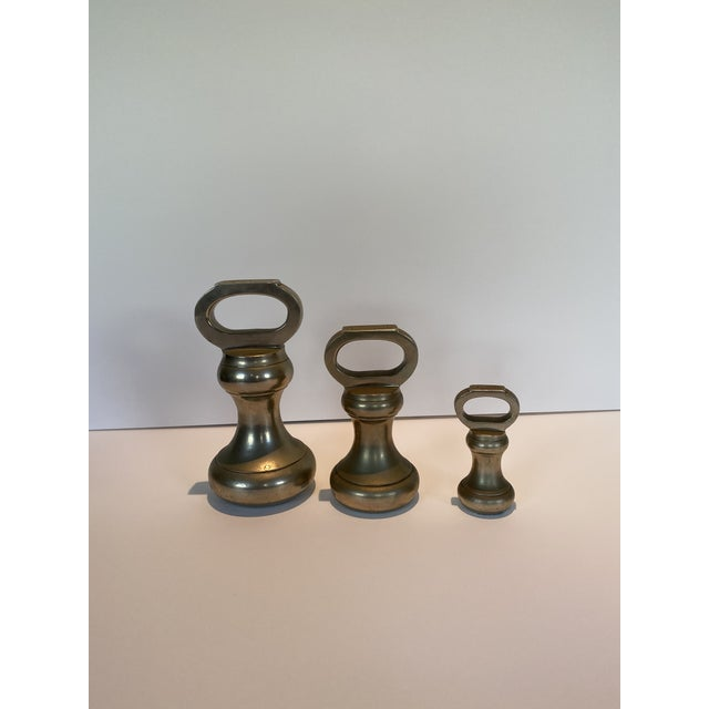 Antique Bell English Weights - Set of 3 For Sale In Los Angeles - Image 6 of 6