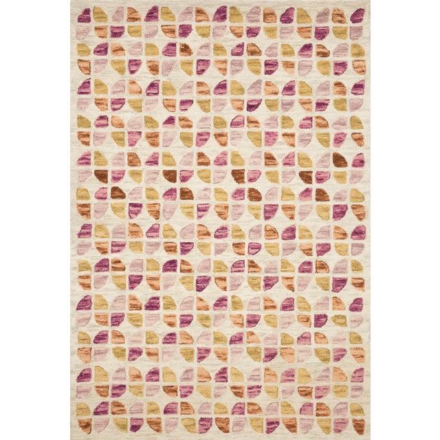 "Contemporary Justina Blakeney X Loloi Rugs Hallu Rug, Ivory / Sunset - 3'6""x5'6"" For Sale - Image 3 of 3"