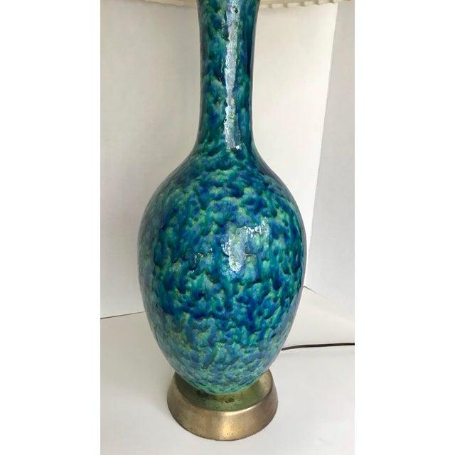 Mid-Century Glazed Lamp - Image 2 of 4
