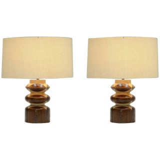 Pair of Lamps in the Manner of Raymond Lowey's Chess Pieces For Sale