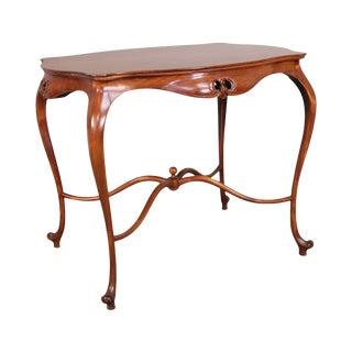 Art Nouveau Antique Mahogany Parlor Table For Sale