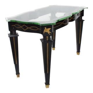 Mid Century Mexican Modernist Side Table by Arturo Pani Fleur De Lis For Sale