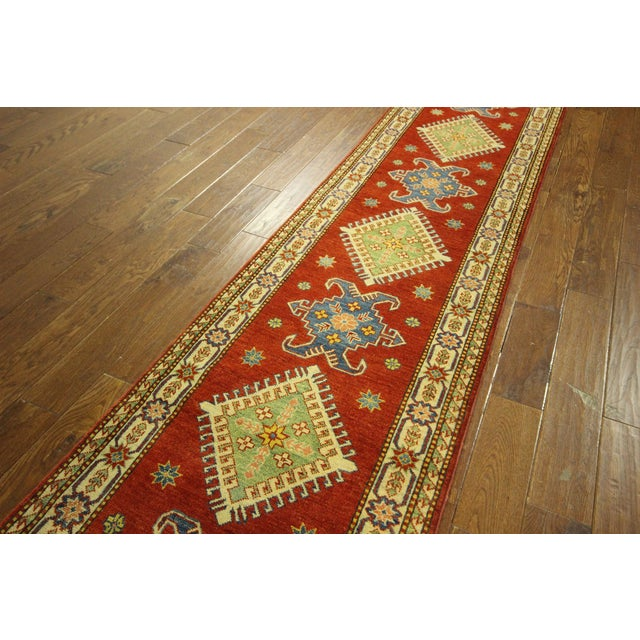 "Shirvan Red Kazak Runner Rug - 2'8"" x 9'6"" - Image 4 of 10"