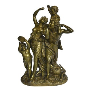 Gilt Bronze Bacchanalian Sculpture