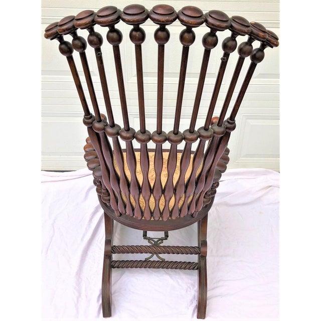 "George Hunzinger Late 19th Century George Hunzinger Highback ""Lollipop"" Platform Rocking Chair For Sale - Image 4 of 13"