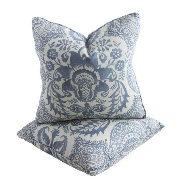 Damask Print Pillows - a Pair - Image 1 of 2