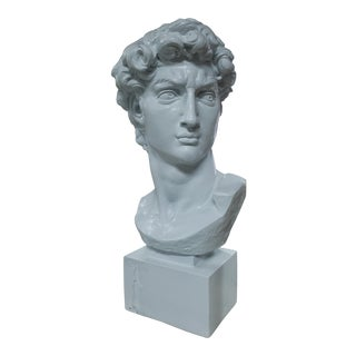 1980s Bust of David Sculpture For Sale