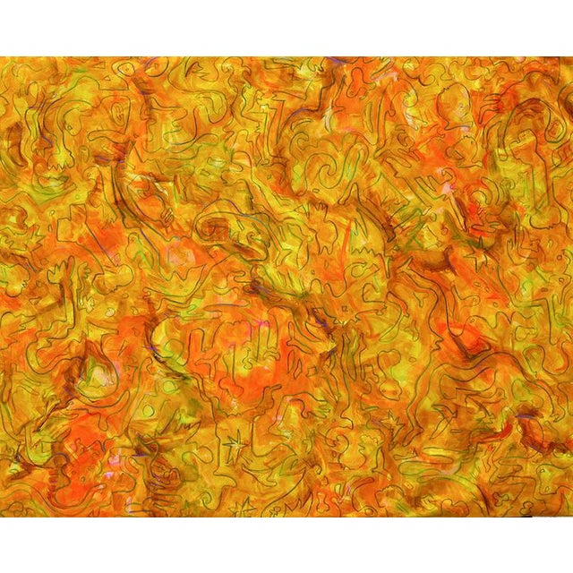 """""""Inside Amber"""" Large Abstract Painting by Trixie Pitts - Image 1 of 4"""