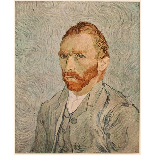 """1950s Vincent Van Gogh """"Self-Portrait"""", Post-Impressionist First Edition Lithograph For Sale - Image 10 of 10"""