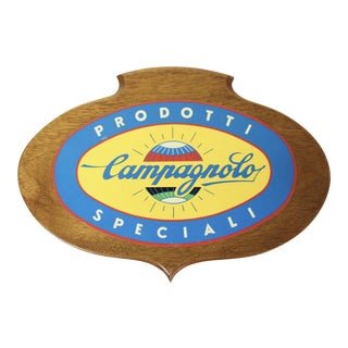 Italian Campagnolo Cycling Wooden Sign