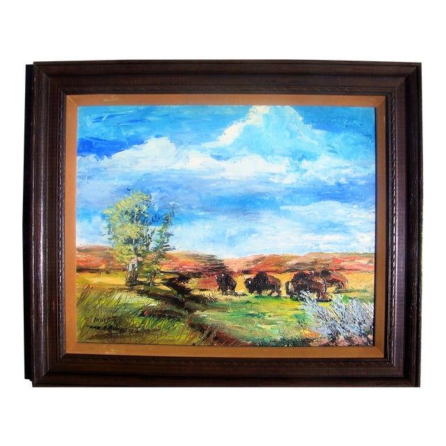 1965 Plein Air Buffalo Landscape Painting - Image 1 of 4