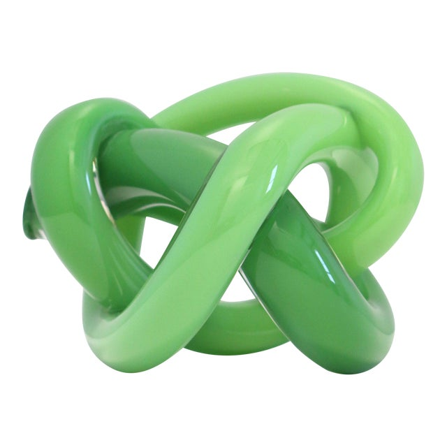 Wrap Object Glass Knot - Dark Green For Sale