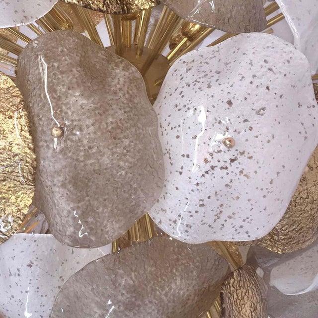 Contemporary bespoke Venetian sphere sputnik chandelier with sunburst organic design and Hollywood Regency glamour,...