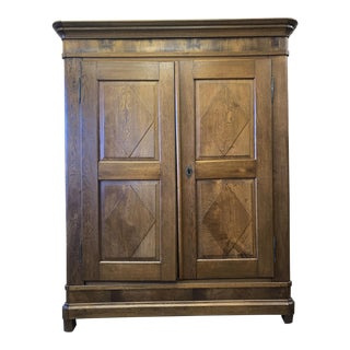 20th Century Traditional Light Oak Armoire For Sale