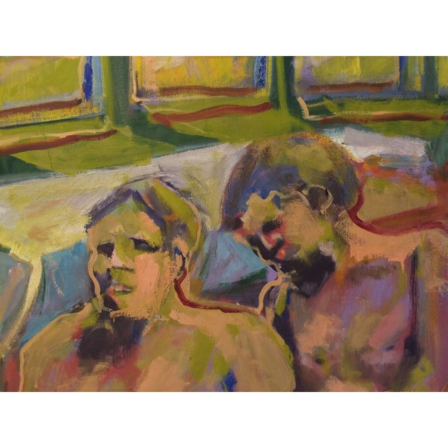 """""""One and Two,"""" Oil Painting Circa 1966 - Image 3 of 7"""