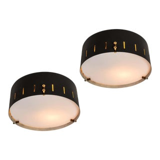 1960s Bruno Gatta Wall or Ceiling Lights for Stilnovo - a Pair For Sale
