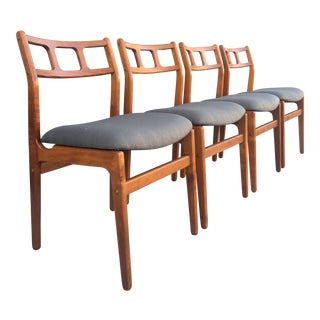 Danish D-Scan Dining Chairs- 4 For Sale