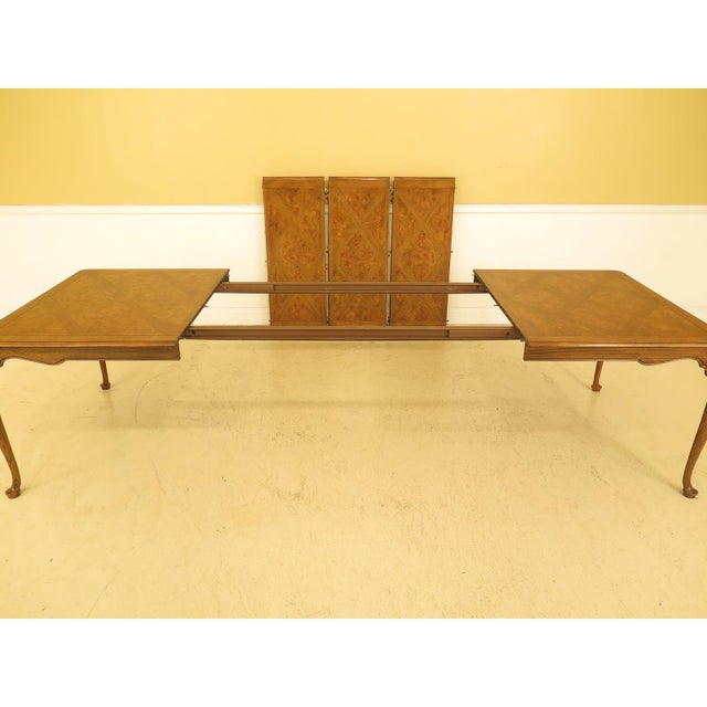 1970s 1970s Queen Anne Baker Walnut & Oak Dining Room Table For Sale - Image 5 of 12