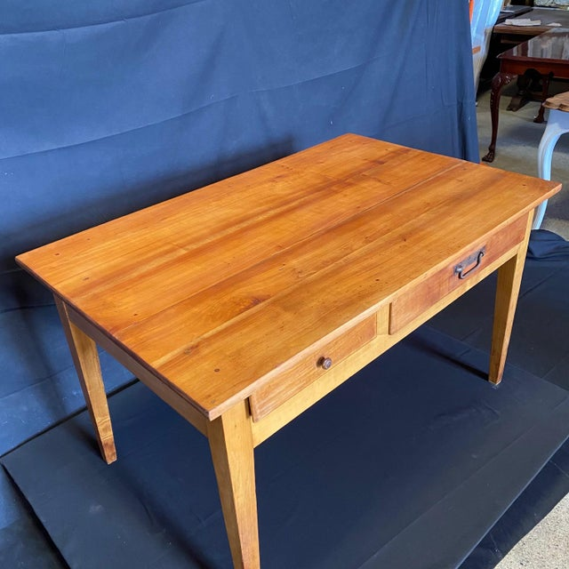 French 19th Century Natural Pine Desk For Sale - Image 4 of 11