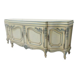Karges French Style Paint Decorated Credenza