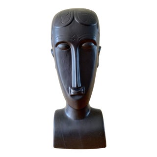 Elongated Ceramic Head Bust Decor Head For Sale