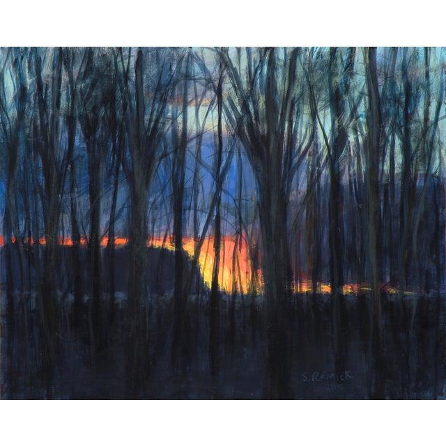 Original Sunset Through Trees Painting - Image 1 of 4