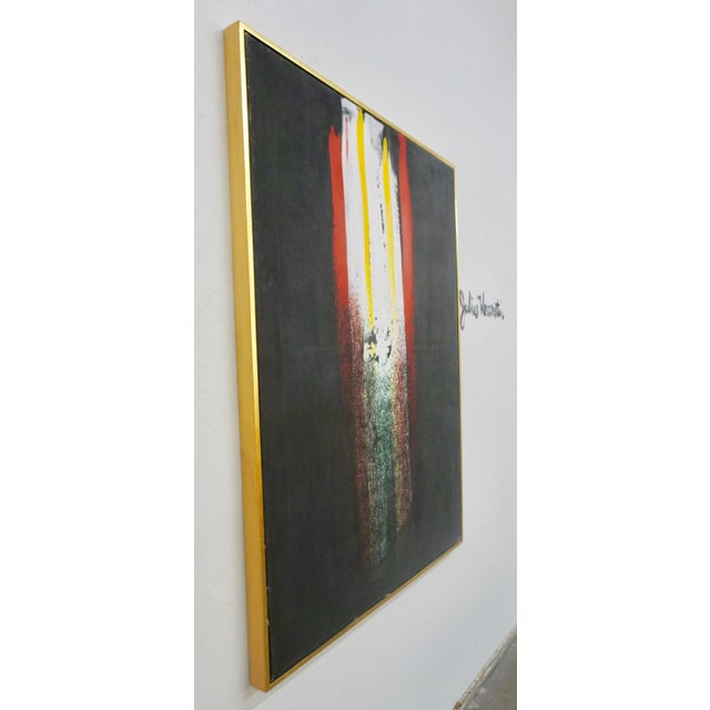 Abstract Abstract Painting by Julius Wasserstein For Sale - Image 3 of 6