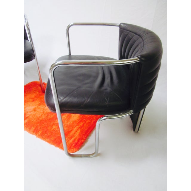 Poltrona Frau Leather Chairs- A Pair - Image 10 of 11