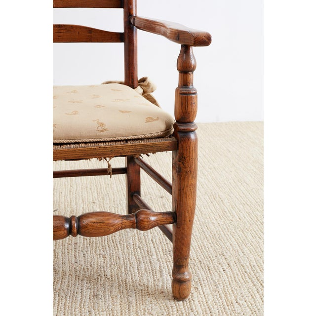 19th Century English Ladder Back Chair For Sale - Image 11 of 13